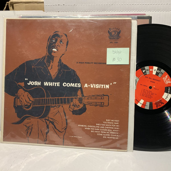 Big Bill Broonzy Sings Josh White Comes A Visitin Period 1209 VG+ Blues LP