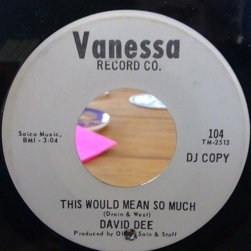 David Dee- Get Up & Move- Vanessa 104- EX Northern Soul PROMO RARE