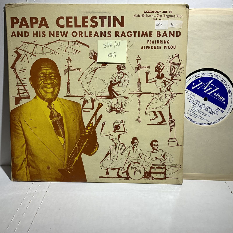 Papa Celestin Legends Live 18 Jazzology JCE 28 VG/VG+ /VG+ Jazz LP Comp