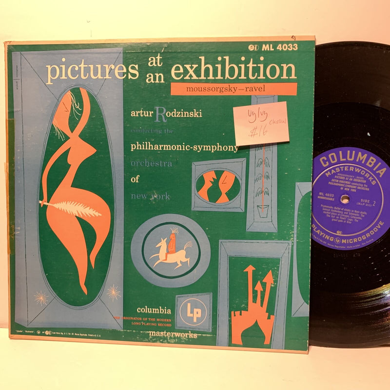 Artur Rodzinski Pictures At Exhibition Ravel Columbia 4033 VG/VG Classical