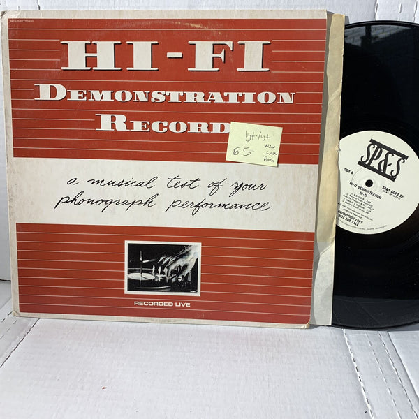 Hi Fi Demonstration Record SP&S 6073 Promo Novelty Sound Effects Record LP