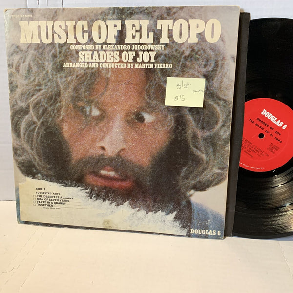 Music Of El Topo Shades Of Joy- Douglas 6 VG/VG+- KZ 30920 Soundtrack Record