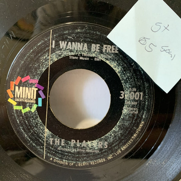 The Players I Wanna Be Free Minit 32001 G+ Soul 45rpm Record Single 7""