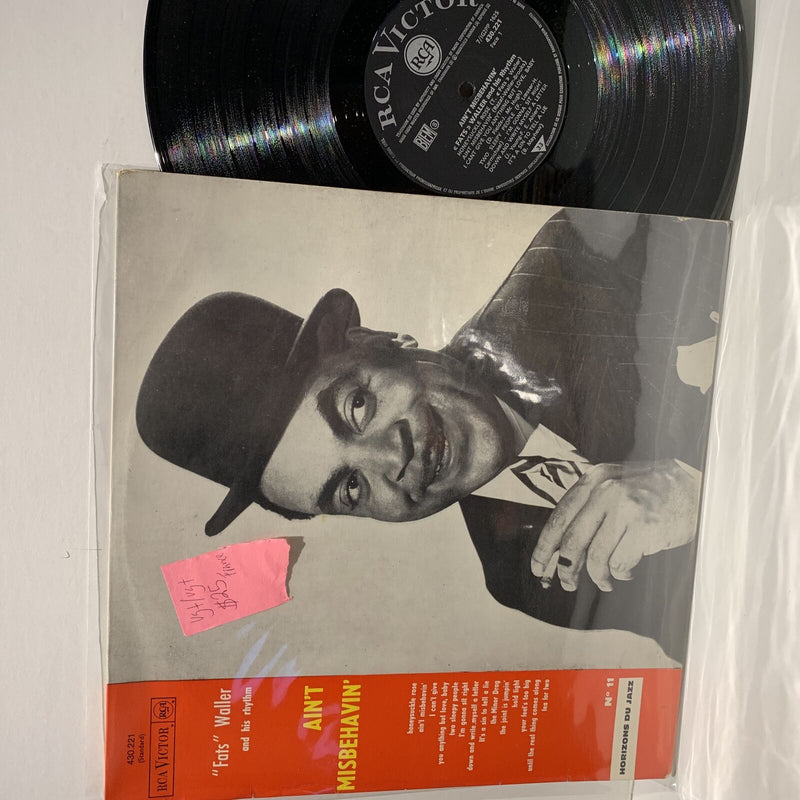Fats Waller- Aint Misbehavin- RCA Victor French Press Jazz LP- VG+/VG+