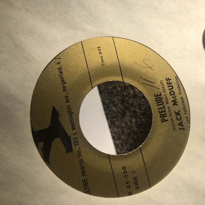 Jack McDuff- Prelude/Oh Look At Me Now- Prestige 45 320- VG- WOL
