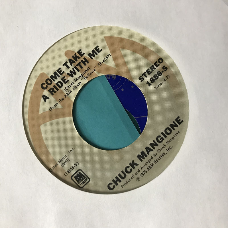 Chuck Mangione- Main Squeeze/Come Take A Ride With me- A&M 1886 S- VG++