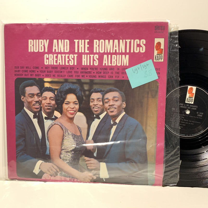 Ruby & The Romantics Greatest Hits Album Kapp 3458 Soul LP VG+/VG+