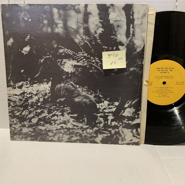 And Not One Police Fox Hollow 1969 Vol IV G++/VG+ Folk Vinyl Record LP