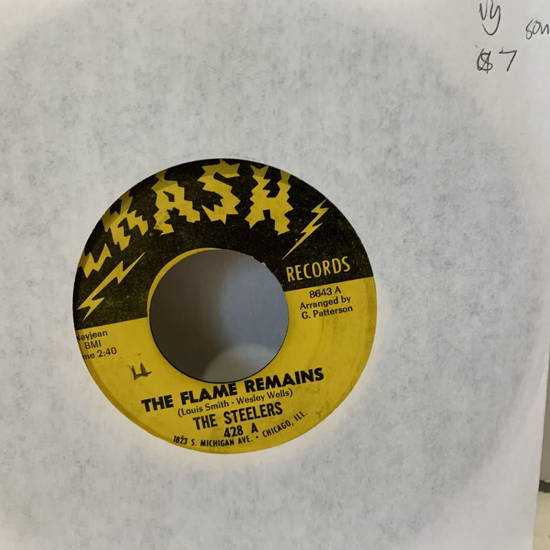 "The Steelers The Flame Remains Crash 428 VG Soul 45 Record 7"" Single rare"