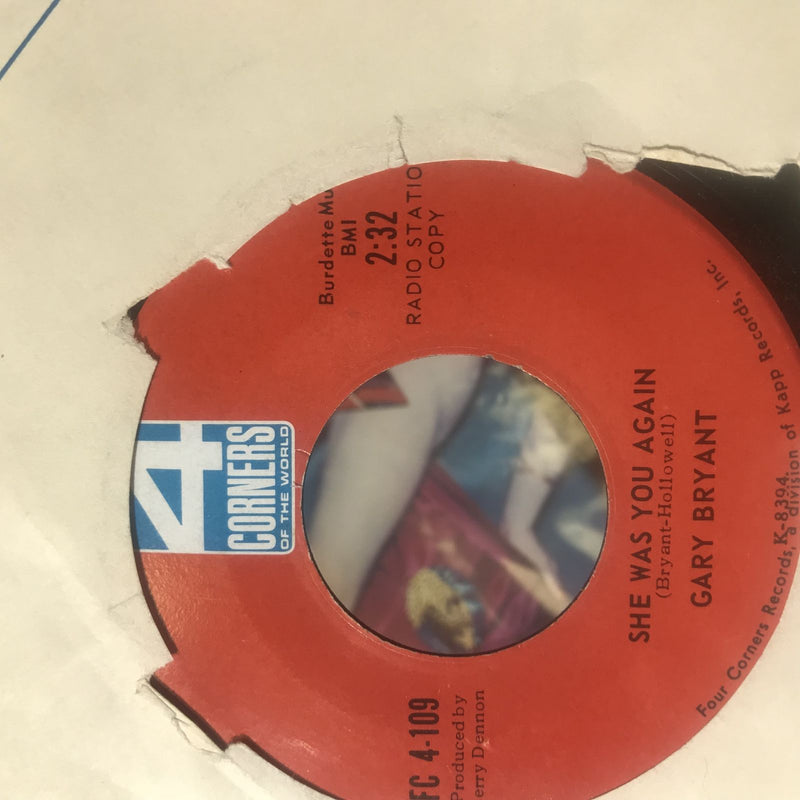 Gary Bryant- She Was You Again/Crystal Anne- 4 Corners FC 4-109- VG+