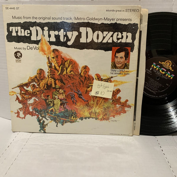 The Dirty Dozen De Vol Motion Picture Soundtrack- MGM 4445 VG+/VG++ LP
