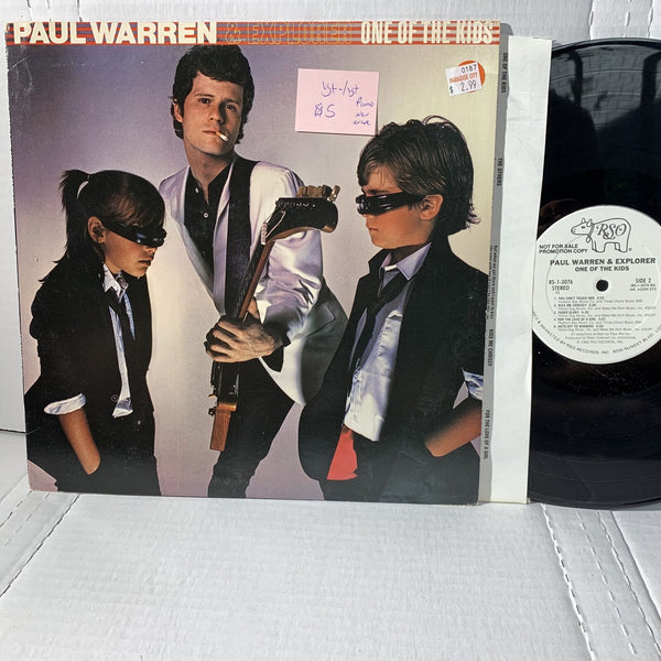 Paul Warren Explorer One Of The Kids- RSO 3076 Promo VG+-/VG+ New Wave LP