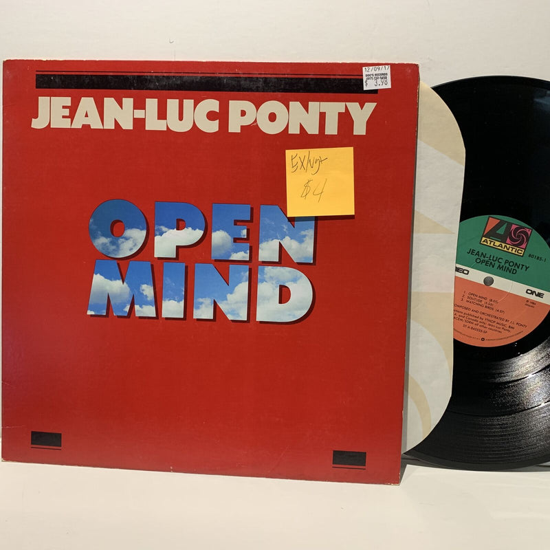 Jean Luc Ponty- Open Mind- Atlantic Jazz Fusion LP- EX/VG+