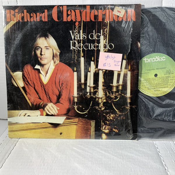 Richard Clayderman Vals Del Recuerdo Tonodisc Uruguay Press VG(+) Latin LP