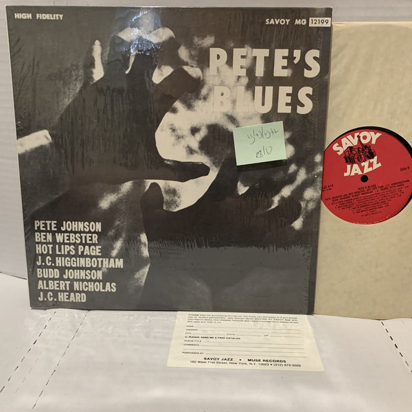Pete Johnsons's Blues Savoy 12199 VG(+)/VG++ Jump Blues Jazz Record LP