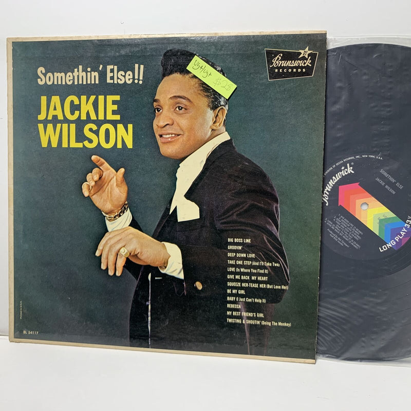 Jackie Wilson Somethin Else Brunswick 54117 Soul LP VG+/VG+