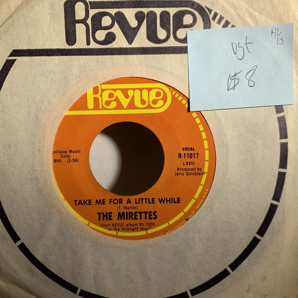 The Mirettes Take Me Home For A Little While- Revue 11017 VG+ HL on 1S 45