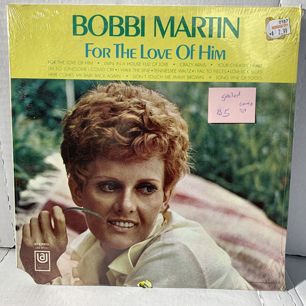 Bobbi Martin For The Love Of Him- United Artists UAS 6700 SEALED Country LP