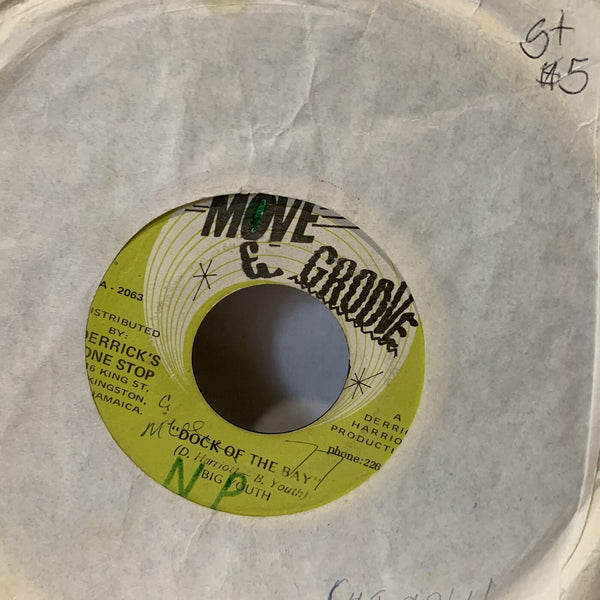 Big Youth Dock Of The Bay Move & Groove Jamaica Reggae 45 G+ Record Single
