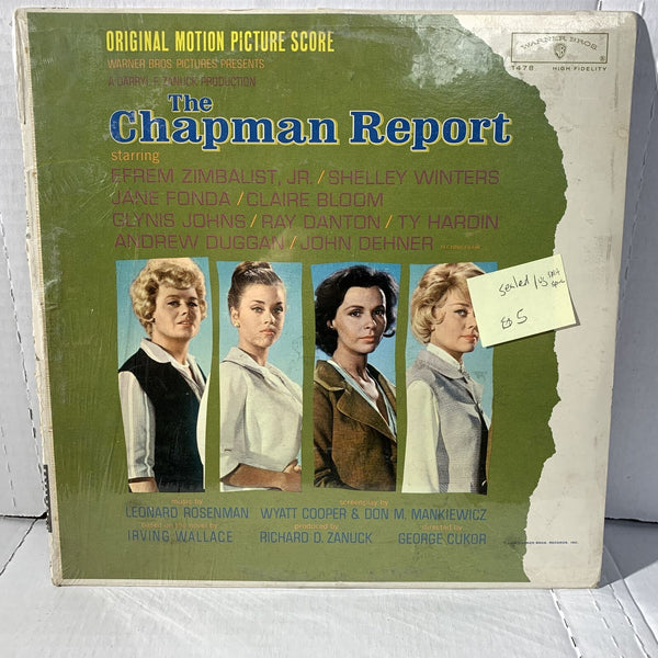 The Chapman Report Original Movie Soundtrack- Warner Bros 1478 SEALED LP