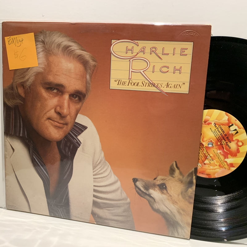 Charlie Rich- The Fool Strikes Again- United Artists Country LP- EX/VG+