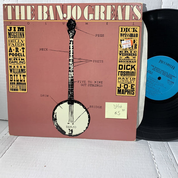 The Banjo Greats Volume 1 Piccadilly 3305 VG+/VG+ Bluegrass Comp Record LP