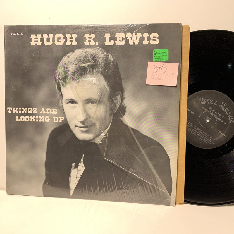 Hugh X Lewis Things Are Looking Up- Free Lance 12732 VG+/VG+ Country LP