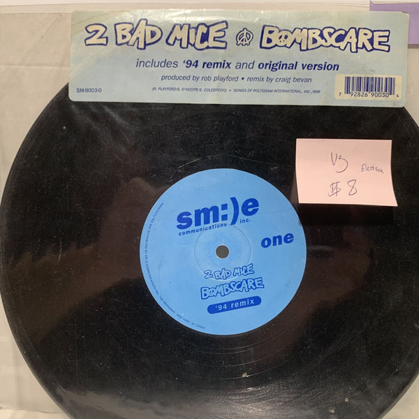 "2 Bad Mice Bombscare Smile Communications VG Electronic 10"" Single"