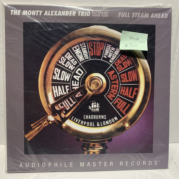 Monty Alexander Ray Brown Full Steam Ahead Audiophile Sealed #222 Ltd