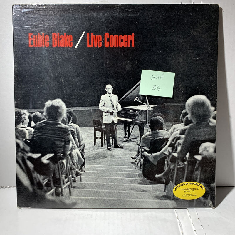 Eubie Blake Live Concert- Trend Record Sealed Jazz Piano Record LP