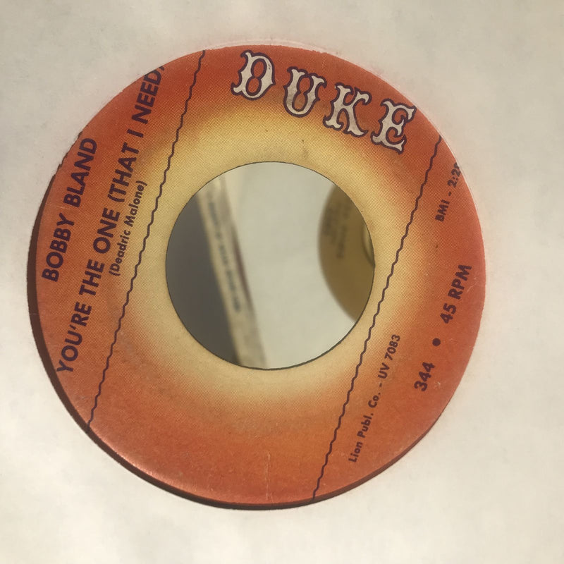 Bobby Bland- Turn On Your Love Light/Youre The One- Duke 344- VG-