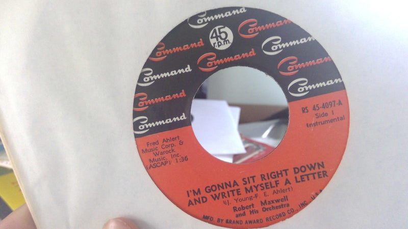 Robert Maxwell - Command 45 4097 - RARE I'm Gonna Sit Right Down And Write