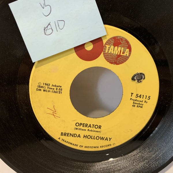 Brenda Holloway Operator- Tamla T 54115 VG 1st Press Soul 45rpm Record single