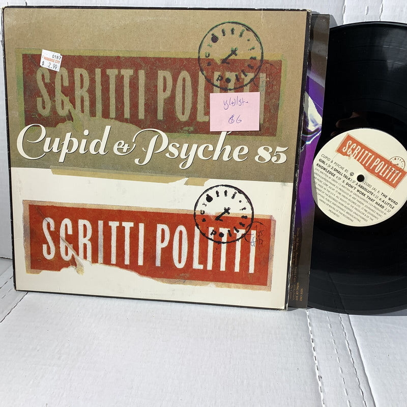 Scritti Politti Cupid & Psyche 85 VG(+)/VG+- Synth Pop Vinyl Record LP 1985