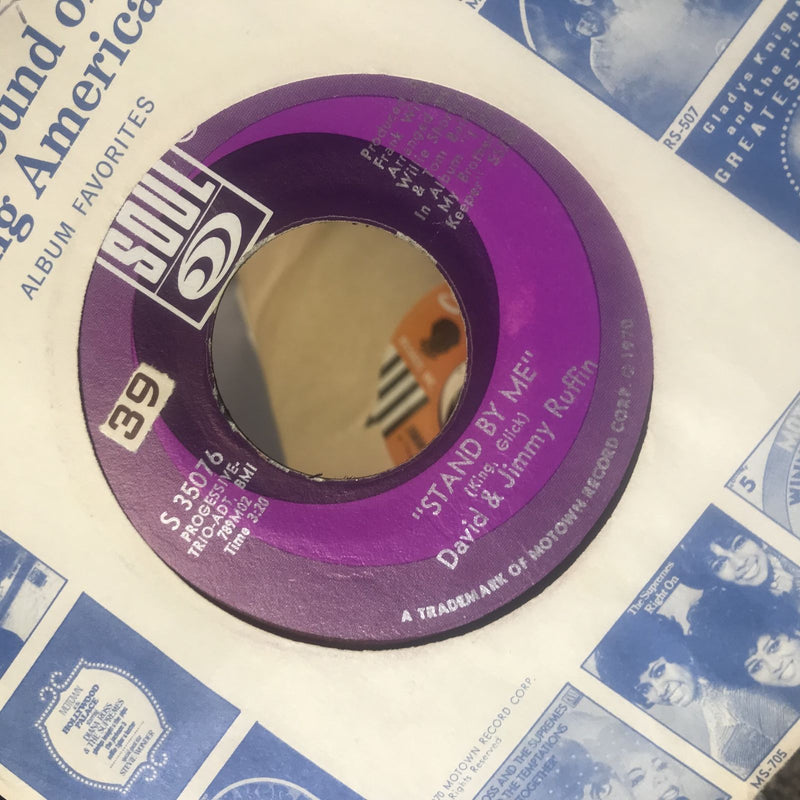David & Jimmy Ruffin- Stand By Me- Soul 35076- VG+