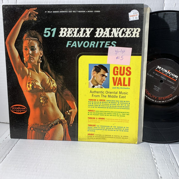 Gus Vali 51 belly Dancer Favorites Musicor MS 3021 VG+-/VG+ World Record LP