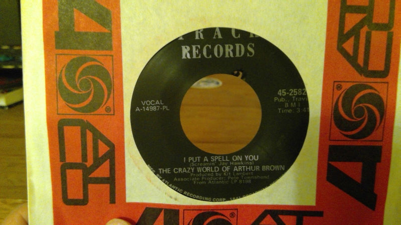 Crazy World Of Arthur Brown- Nightmare- Track 45-2582 VG+ Psych rock 45