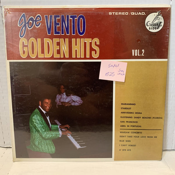 Joe Vento Golden Hits Vol 2 Surf Side LP 1234 SEALED Quadraphonic Jazz Record