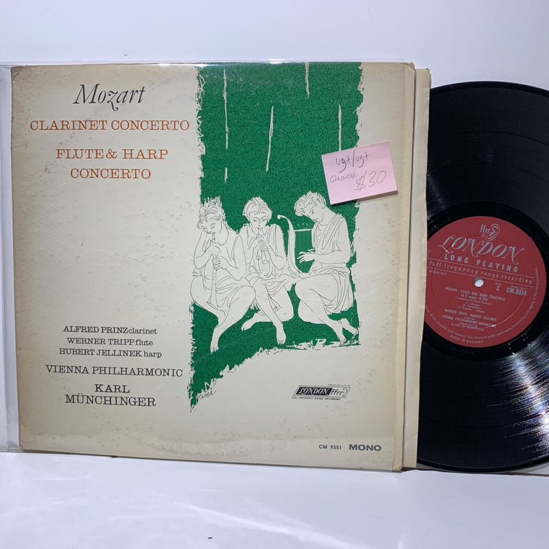 Karl Munchinger Mozart Clarinet Flute Harp Concerto London 9351 Classical UK