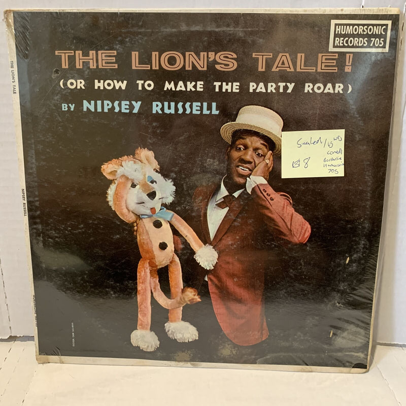 Nipsey Russell Lion's Tale SEALED VG sleeve water Comedy Record Humorsonic