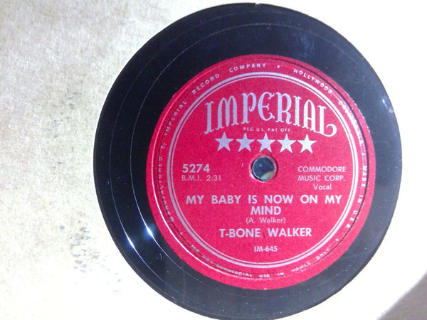 T-Bone Walker Vida Lee / My Baby Is Now On My Mind Imperial 5274 Rare Blues 78