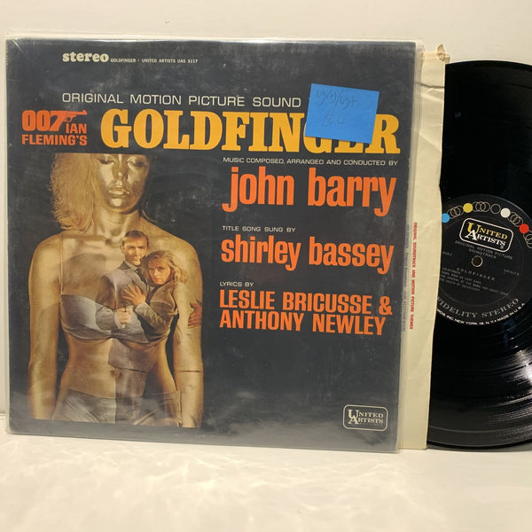 John Barry Shirley Bassey Goldfinger Soundtrack United Artist LP- VG(+)/VG+