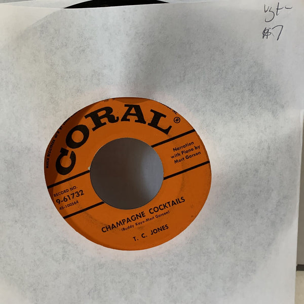 "T.C. Jones Champagne Cocktails Coral 9-61732 VG+- Soul 45 7"" Single Record"