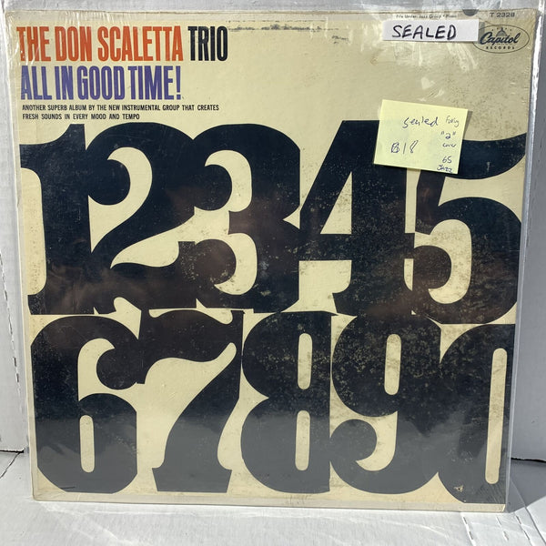 Don Scaletta Trio All In Good Time- Capitol T 2328 SEALED Jazz Record Foxing