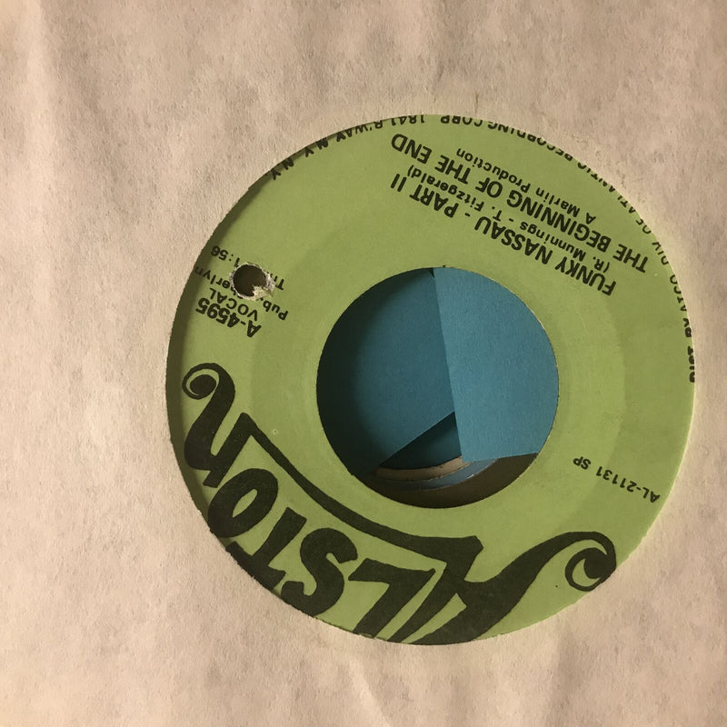 The Beginning Of The End- Funky Nassau- Alston A 45950 VG+ Funk 45