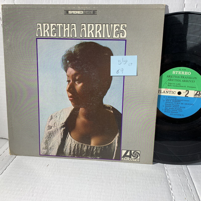 Aretha Franklin Aretha Arrives Atlantic SD 8150 CT VG/VG+ Soul Record LP
