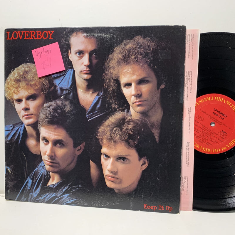 Loverboy Keep It Up- Columbia 38703 VG+/VG+ Rock LP