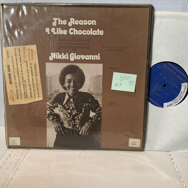 Nikki Giovanni The Reason I Like Chocolate- Folkways FC 7775 Poetry Record