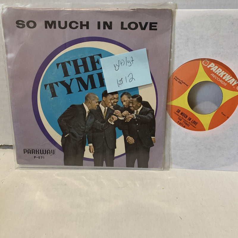 The Tymes So Much in Love- Parkway P 871 VG(+)/VG+ Soul 45 Picture Sleeve