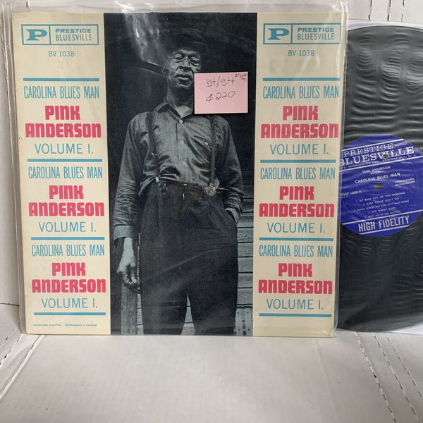 Pink Anderson Vol 1 Carolina Blues Man- Prestige Bluesville 1st Press VG+